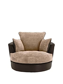 Astonishing Large Swivel Round Cuddle Chair Fabric Corduroy Chenille Leather Designer Scatter Cushions Brown Forskolin Free Trial Chair Design Images Forskolin Free Trialorg