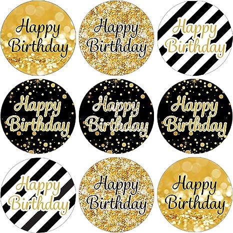 Amazon.com: Feliz Cumpleaños Party Favor pegatinas de ...
