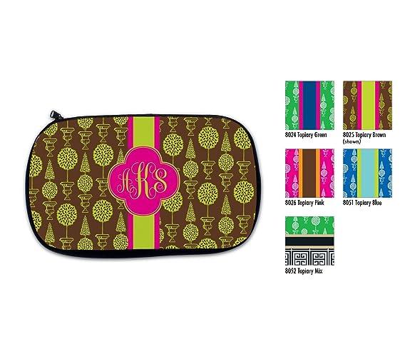 amazon com personalized cosmetic bag monogram pencil case make up