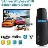 HDMI Dongle Miracast Dongle WIFI ,GGMM 5G V-Linker Miracast, AirPlay, DLNA - Full HD Wi-Fi Streaming- Dual Band Wireless 5GHz / 2.4GHz per Condividere Foto / Musica / Video / Gioco / Internet e Intero Schermo da Cellulari su Gran Schermo HDMI TV, per iPhone / iPad / Mac Book