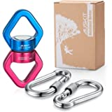 Rotational Device, Safest Swing Swivel (30KN) with 2 Carabiners For Web Tree Swing, Rope Clambing Hammock, Swing Setting, Aerial Dance By AusKit