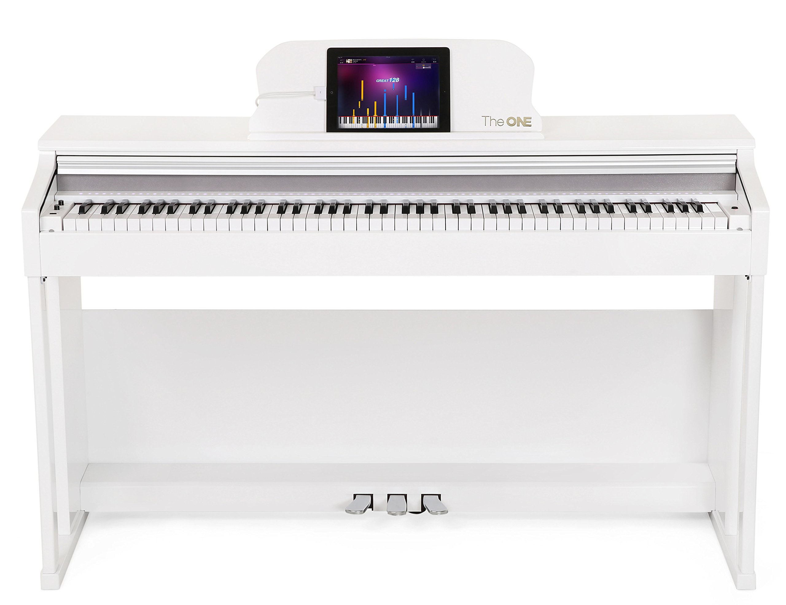The ONE Smart Piano 88-Key Home Digital Piano Grand Graded Action Upright Piano - Classic White