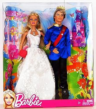 Amazon.es: Barbie - X4939 - Exclusive 2-Pack - Mariage de rêve / Fairytale Wedding - Princess Barbie et Prince Ken ...
