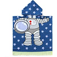 "Astronaut Kid Bath Towel for 1-6 Years Boys,24""x36"" Soft Microfiber Beach Towel for Kids Bath,Swimming,Pool and Beach…"