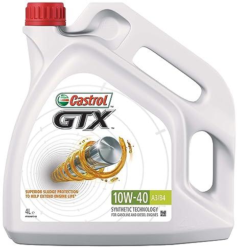 Castrol GTX Aceite de Motores 10W-40 A3/B4 4L (Sello inglés)