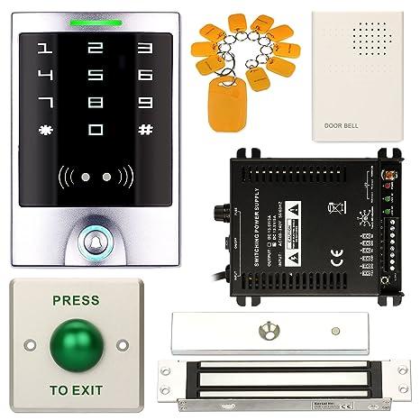 Amazon.com: Sistema de Control de acceso, zoter impermeable ...
