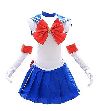 Kawaii-Story H de 6005 Sailor Moon Usagi Azul Blanco Cosplay Dress Disfraz Costume