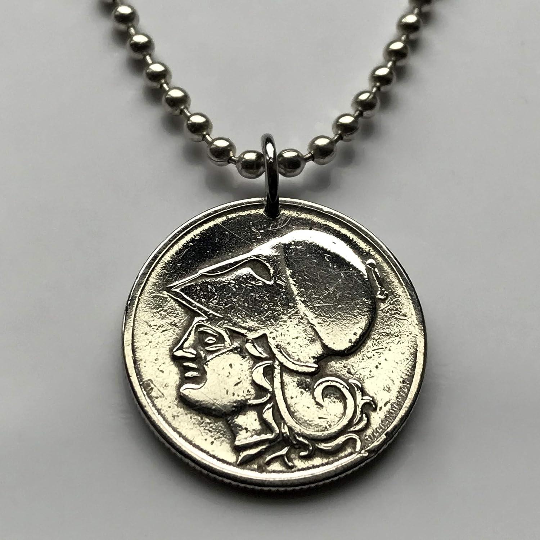 Greek Zeus Olympia 25mm Keyring Mythology Vintage Copper Coin Charm Keychain Antique Copper Greece Drachma Tetradrachm