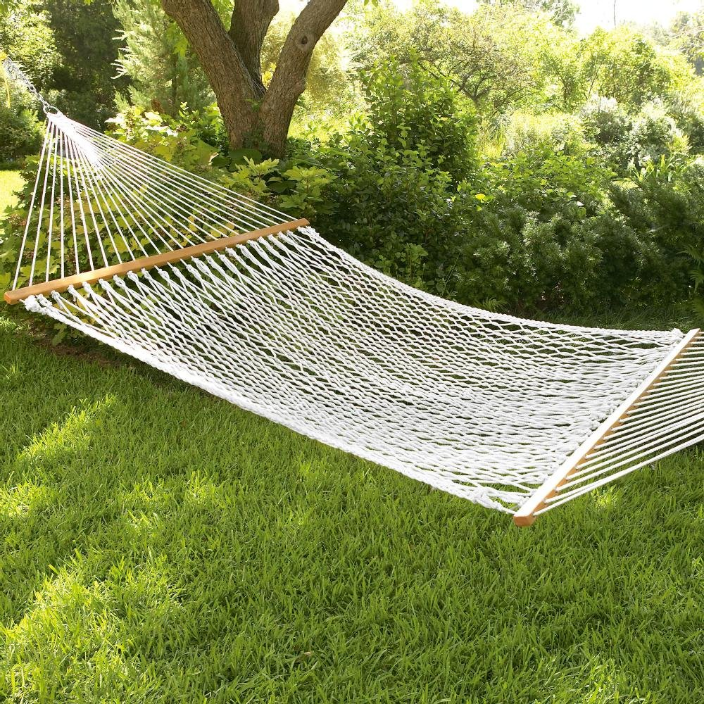 South Mission Double Rope Hammock W Wooden Spreader Bars