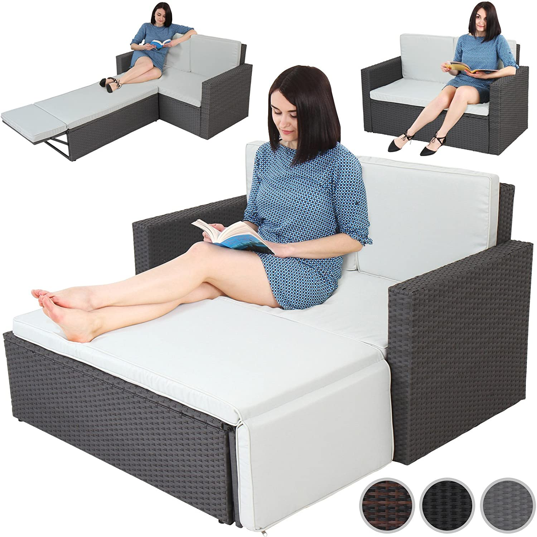 Miadomodo Multifunktionale Polyrattan Gartenmöbel Sofa Couch ...