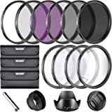 Neewer® 67MM Complete Lens Filter Accessory Kit for Lenses with 67MM Filter Size: UV CPL FLD Filter Set + Macro Close Up…