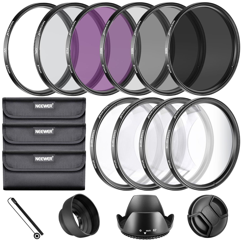 Neewer 67MM Complete Lens Filter Accessory Kit for Lenses