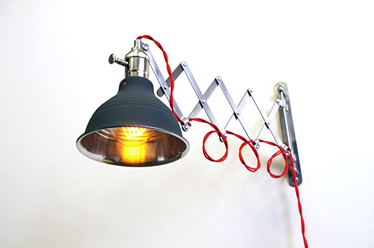Scissor Extention Accordion Wall Lamp - Steam Punk Light - Scissor Extention Accordion Wall Lamp - Steam Punk Light - Other