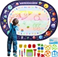 Apsung Large Aqua Doodle Mat 100 X 70 cm Water Drawing Doodle Magic Mat Educational Toys Gifts for Kids Toddlers Boys Girls Age 3 4 5 6 7 8 Year Old