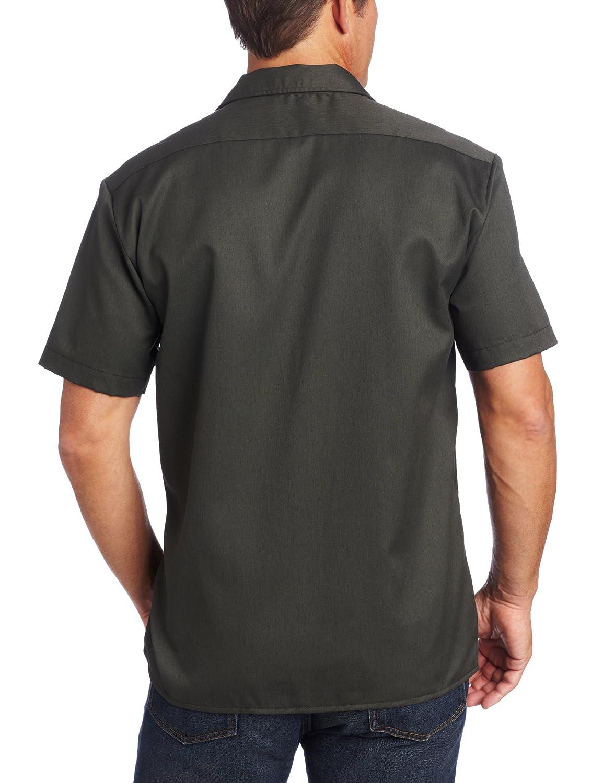 White Dickies Mens Work Shirt Short Sleeves