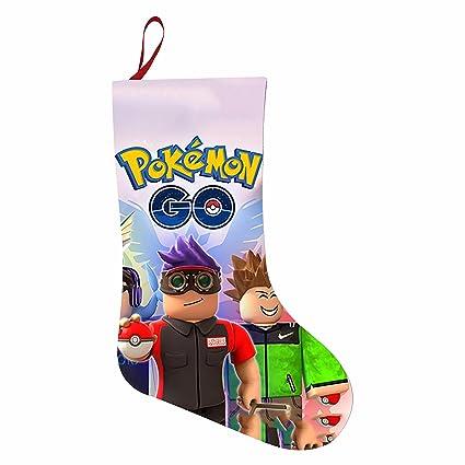 SANTATATR Santatr Papá Noel Calcetines de Navidad para Decoraciones Regalo Bolsas robox-Pokemon-go