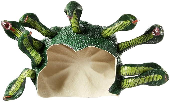 Adult Medusa Snake Snakes Headpiece Cap Mask Hair Costume Accessory Wig Medussa
