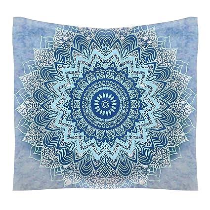 FEOYA Mandala Wall Tapestry Tapiz en la Pared Estilo Indio Bohemio Clásico Decoraciòn la Habitaciòn Toalla