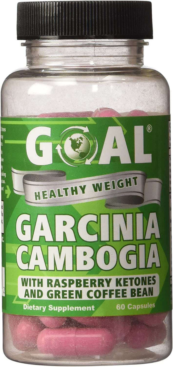 Goal Healthy Weight – Garcinia Cambogia Weight Loss Combo Pills 60 Capsules – Plus Raspberry Ketones and Green Coffee Bean Extract – Best Fat Burners Diet Pills Works Fast for Women and Men