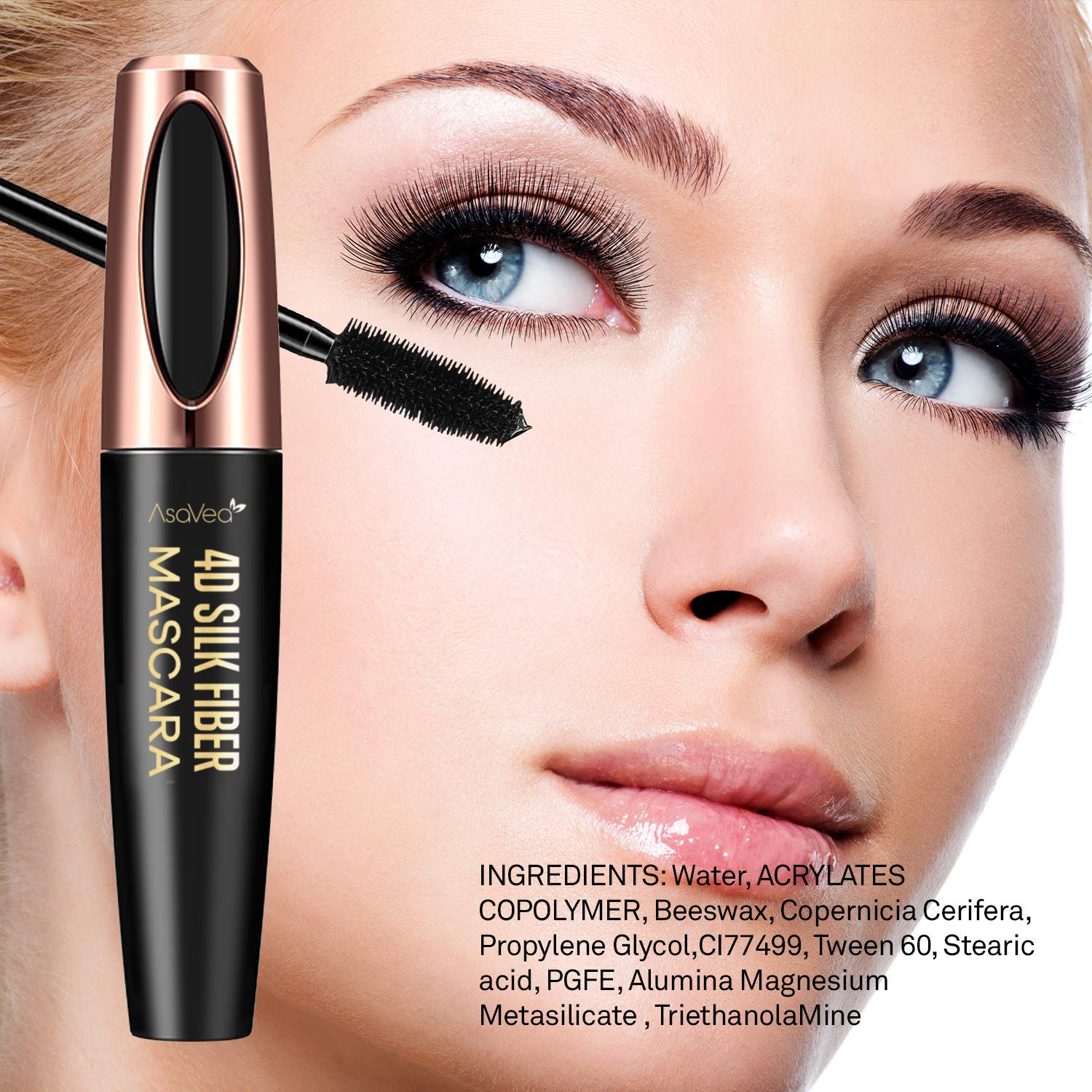 Natural 4D Silk Fiber Lash Mascara Lengthening and Thick Long Lasting Waterproof  SmudgeProof All