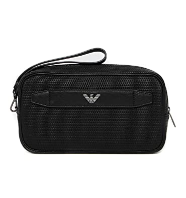 58b2e06ae46a Armani Jeans men s travel toiletries beauty case wash bag black   Amazon.co.uk  Shoes   Bags