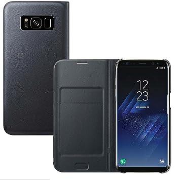 Lincivius Funda Samsung S8 Plus [Flip Cover] Carcasa Galaxy S8 Plus Proteccion con Tapa A Libro Estuche Resistente Anti Golpes Accesorios