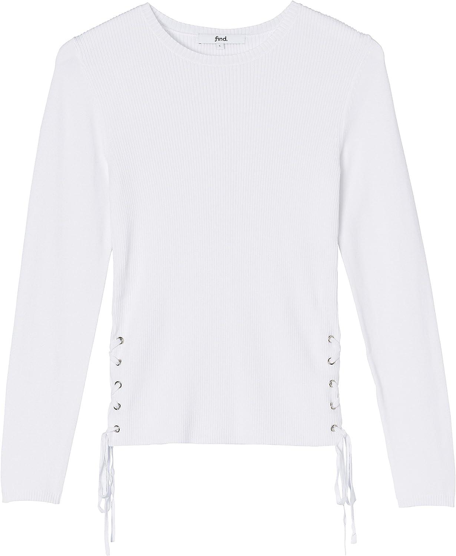 find Pullover Damen mit Feinripp und glatten /Ärmeln Marke