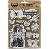 "Prima Marketing Finnabair Cling Stamps 6""X7.5""-Don't Forget To Fly"