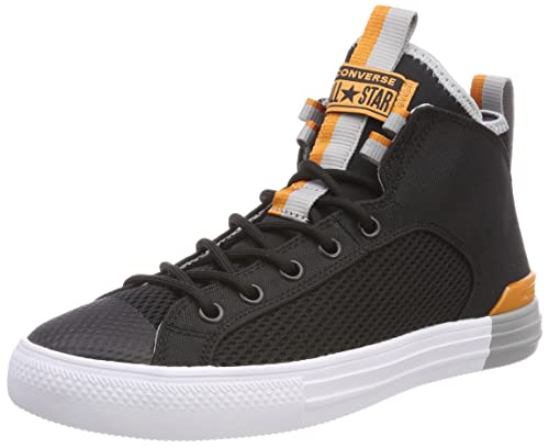 a163beee53aa96 Converse Men s CTAS Ultra Mid Black Wolf Grey Tangelo Hi-top Trainers Black  (Black Wolf Grey Tangelo  Buy Online at Low Prices in India - Amazon.in