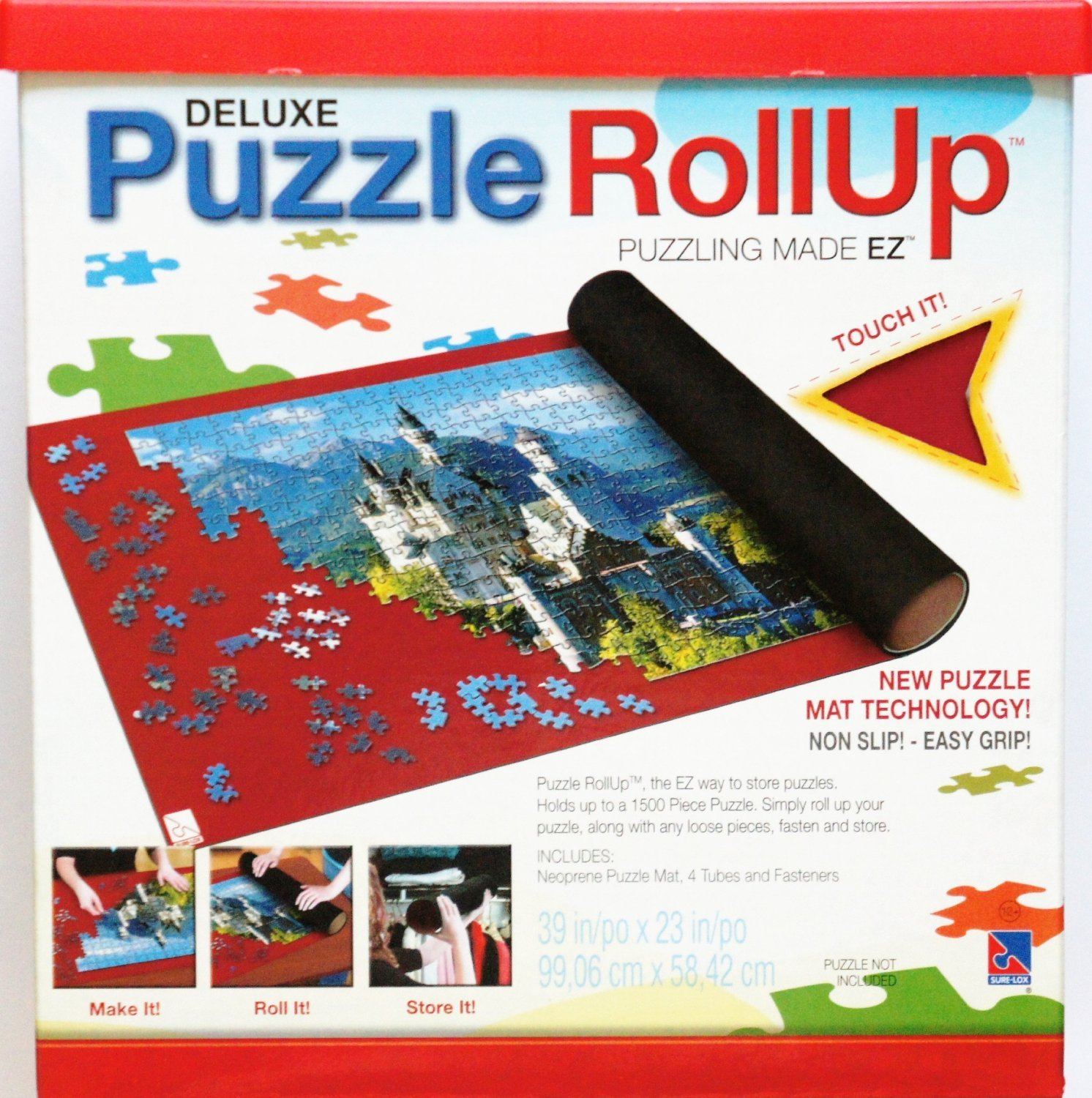 SURE LOX DELUXE PUZZLE RollUp Puzzling MADE EZ with new PUZZLE MAT TECHNOLOGY