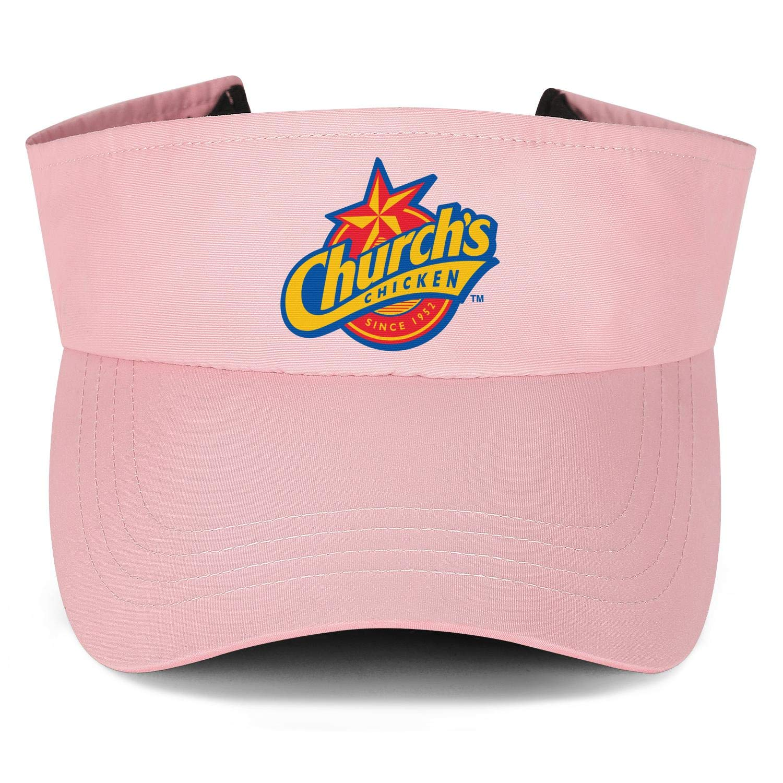 Churchs Chicken Logo Mens Womens Sun Visor Cap Dad Hats Hipster Beanie Hat Relaxed