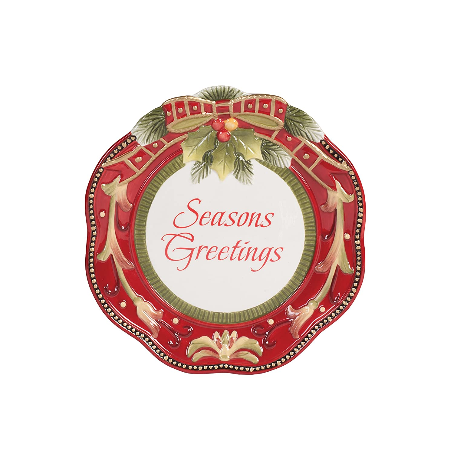 Christmas Holly Accent Plates