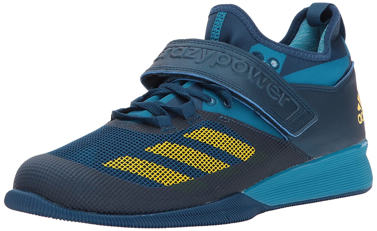 Bleu Night Equipment jaune Mystery Petrol adidas Perforhommece - Crazy Power Homme 47 EU