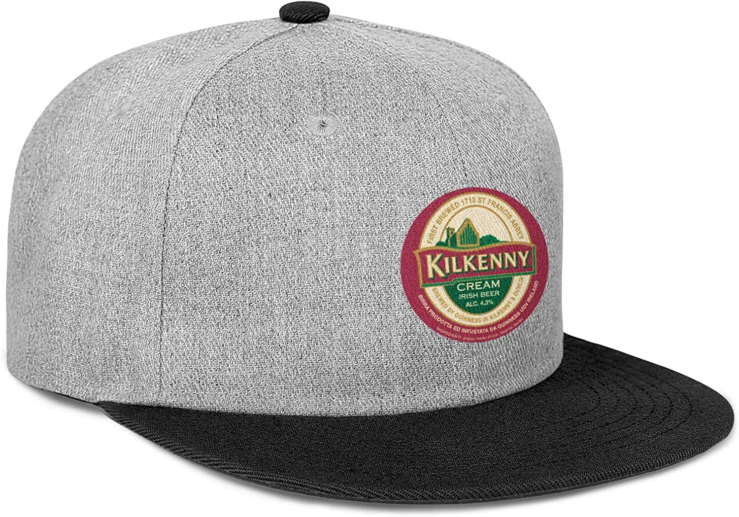 Kilkenny Logo Mens Womens Wool Vintage Cap Adjustable Snapback Summer Hat