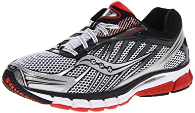 667928828385 Saucony Ride 6 Running Shoes White Silver Black red  Amazon.co.uk ...