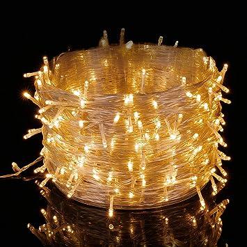 Elegear Guirnalda Luces Exterior Cadena 250 Leds 50m Impermeable Iluminación Interior o Exterior Decorativas para Bodas
