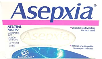 Asepxia Neutral Cleansing Soap 4 oz Bar (4 Bars)