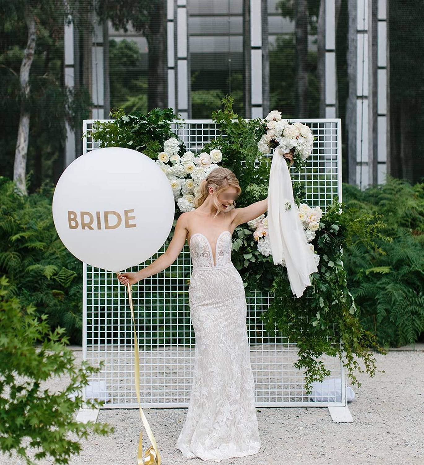 NA Wedding Arch Frame Stand Round Grid Arch Party Wedding Background Grid Screen Mori Geometry Decor Artificial Flower Wrought Iron,90Cm Flower