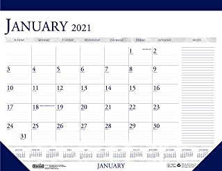 product image for House of Doolittle 2021 Monthly Desk Pad Calendar, Classic with Notes Section, 18.5 x 13 Inches, January - December (HOD1646-21)