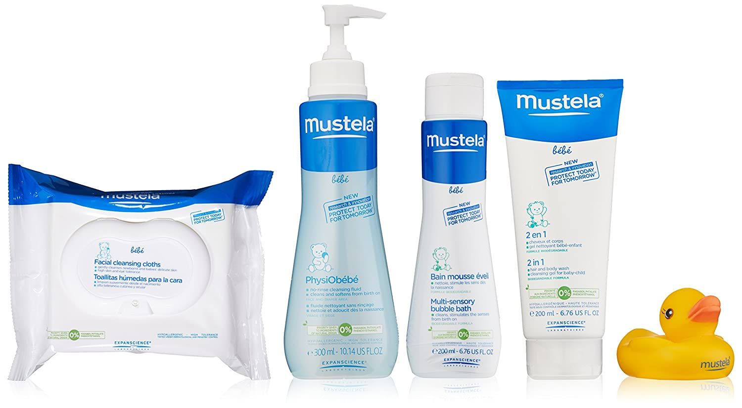 Amazon.com: Mustela Bathtime Essentials Gift Set, Gentle Baby Bath ...