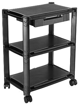 RICOO Multi-Almacenaje PC Soporte Impresora WM5-L Escritorio Pedestal Mesa 3 Niveles pies rodantes gabinete Ordenador portátil Tableta Altura ...