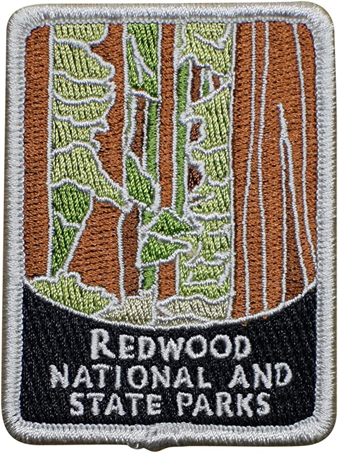 CA Sequoia Green Iron on California Redwoods Patch