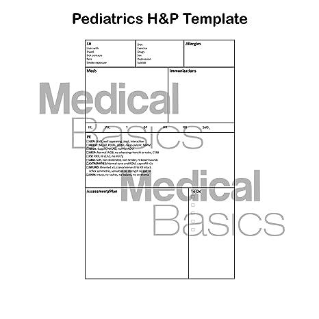 Amazon.com : Pediatrics H&P Notebook Medical History and Physical ...