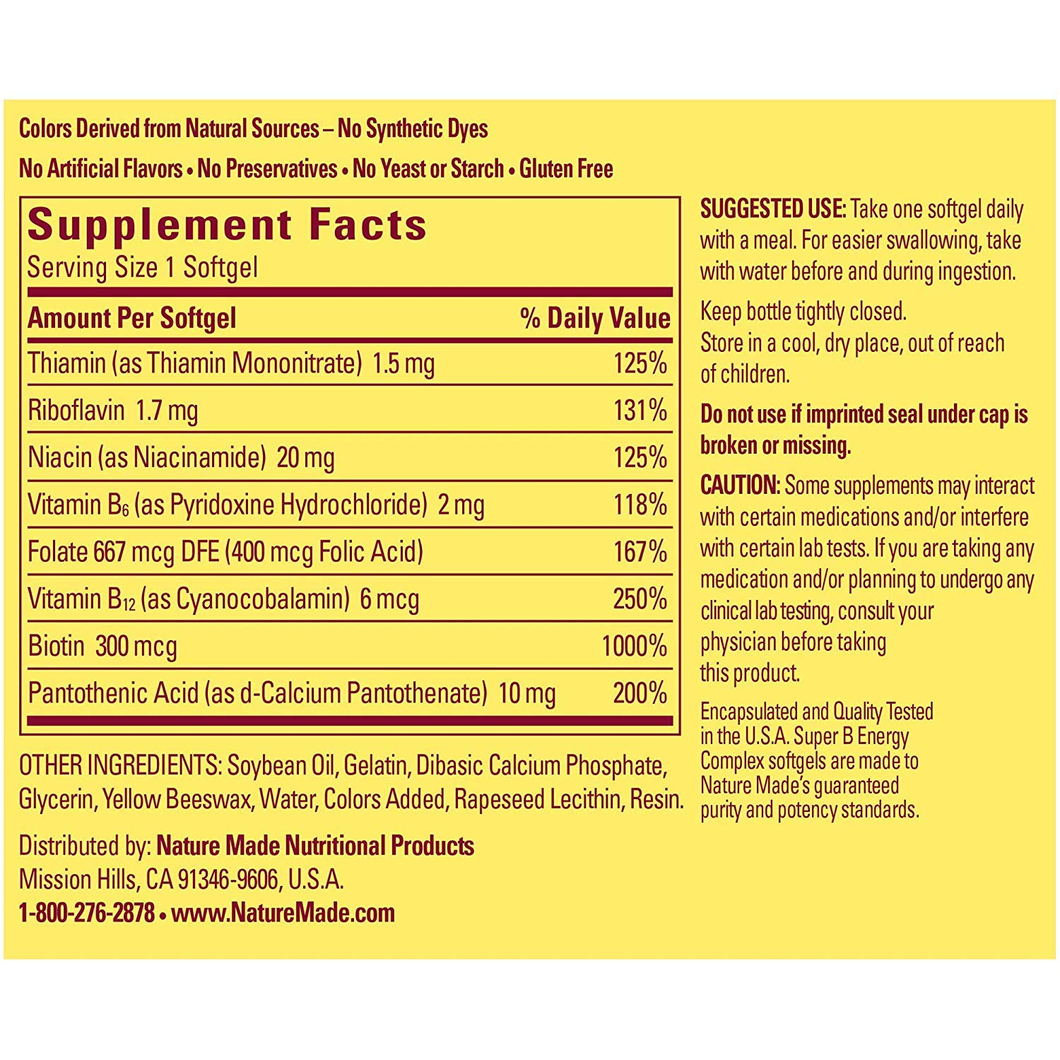 (2 Pack) - Nature Made Super B Energy Complex, 60 Softgels each. by Nature Made