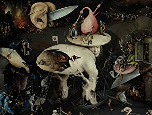 JP London PMUR2288 uStrip Bosch Peel and Stick Wall Decal Sticker Mural, The Garden of Earthly Delights Painting, 4 x 3-Feet
