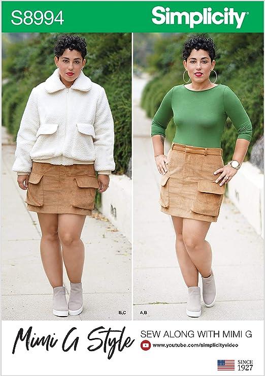 SIMPLICITY S8994 Mimi G Style - Patrón de costura para chaqueta ...