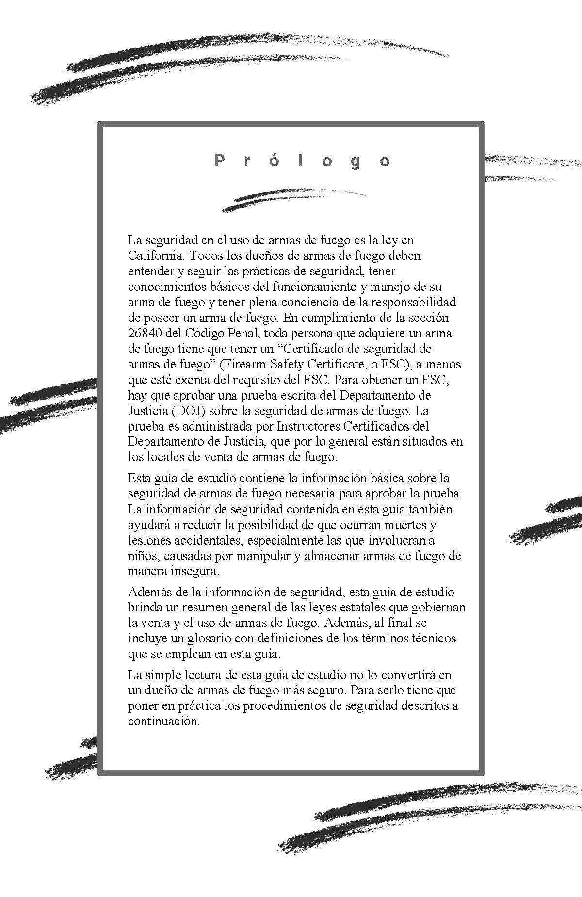 Vistoso Certificado De Seguridad De Pistolas Ca Festooning ...
