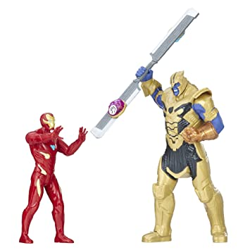 Marvel Avengers Heroes Figura Avengers Infinity War Thanos vs Iron Man Battle Set, e0559