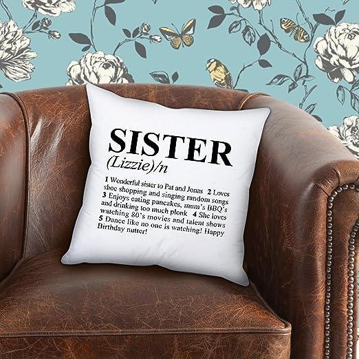 Cojín personalizable hermana diccionario alta definición ...
