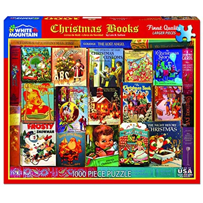 White Mountain Puzzles Christmas Books - 1000 Piece Jigsaw Puzzle: Toys & Games